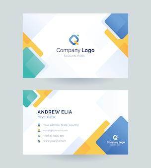 Sjabloon voor visitekaartjes voor bedrijf en bedrijven