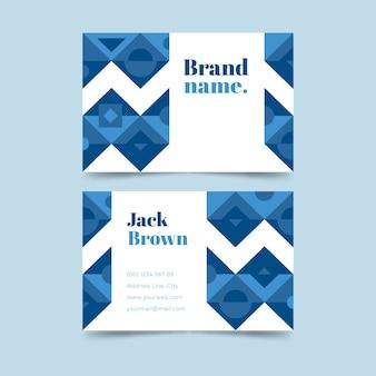 Sjabloon voor visitekaartjes voor bedrijven