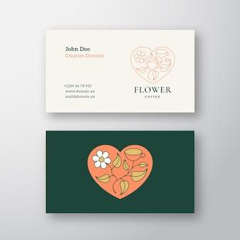 Sjabloon voor visitekaartjes voor bloemenwinkel