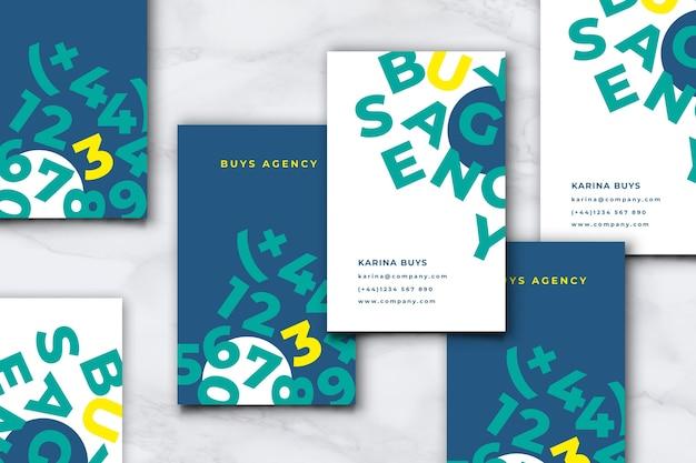 Sjabloon voor visitekaartjes voor grappige grafisch ontwerper