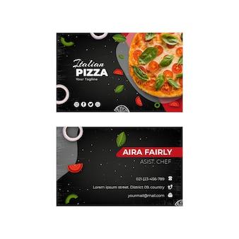 Sjabloon voor visitekaartjes voor italiaans eten