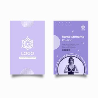 Sjabloon voor visitekaartjes voor meditatie en mindfulness