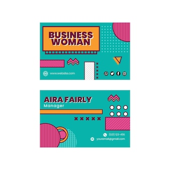 Sjabloon voor visitekaartjes voor zakenvrouwen
