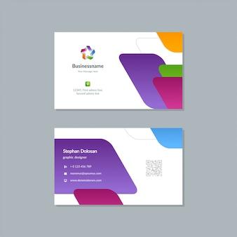 Sjabloon voor visitekaartjesontwerp trendy kleurrijke sjabloon bewerkbare sjabloon 3.5x2 met afloop
