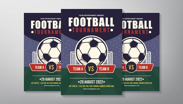 Sjabloon voor voetbaltoernooi folder