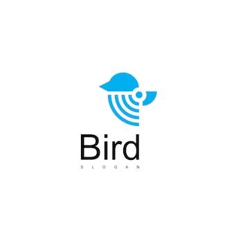 Sjabloon voor vogellogo