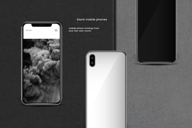 Sjabloon voor voor- en achteraanzicht mobiele telefoon