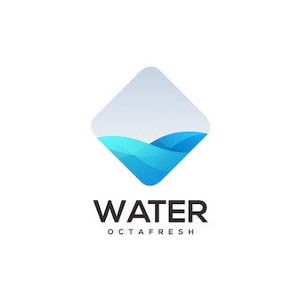 Sjabloon voor waterlogo