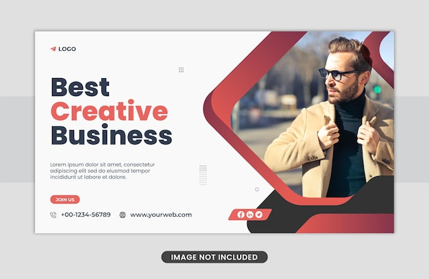 Sjabloon voor webbanner voor marketingactiviteiten