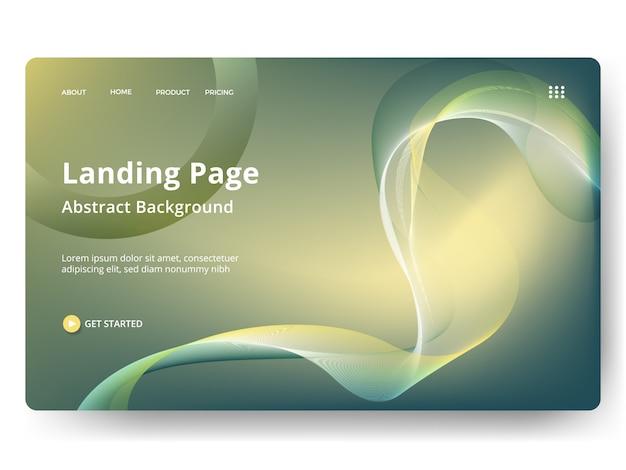 Sjabloon voor weblandingspagina, banner, presentatie