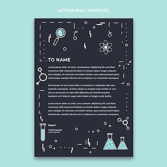 Sjabloon voor wetenschappelijke briefpapier in vlakke stijl