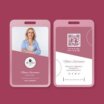 Sjabloon voor wijn-id-kaarten