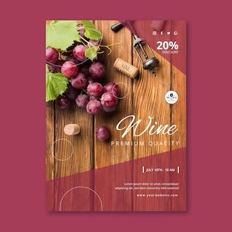 Sjabloon voor wijnposters