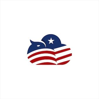 Sjabloon voor wolk met adelaar-logo