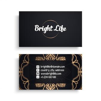 Sjabloon voor zakelijk visitekaartjes met etnische luxe design, boho-stijl