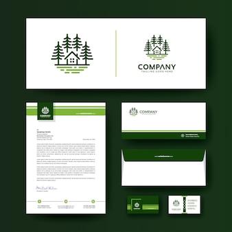 Sjabloon voor zakelijke bedrijfs briefpapier met logo