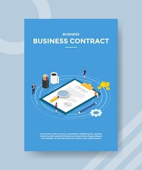 Sjabloon voor zakelijke contract flyer