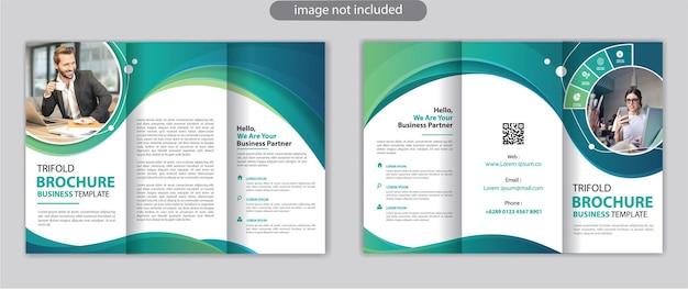 Sjabloon voor zakelijke driebladige brochure