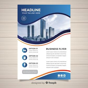 Sjabloon voor zakelijke flyer met foto