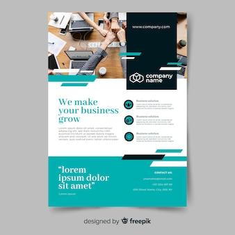 Sjabloon voor zakelijke groei abstract folder