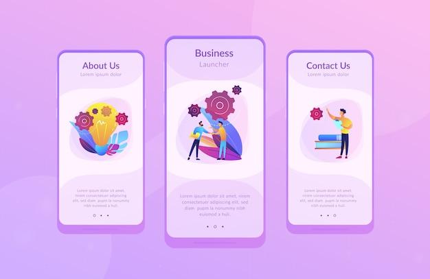 Sjabloon voor zakelijke ide-app-interfaces