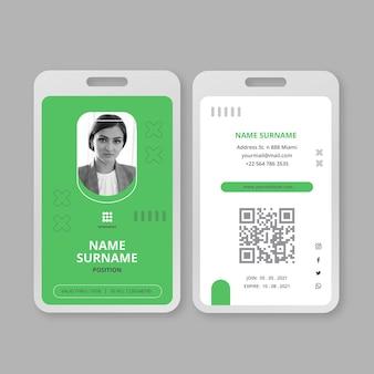 Sjabloon voor zakelijke identiteitskaarten voor marketing