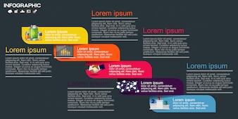 Sjabloon voor zakelijke infographic elementen.