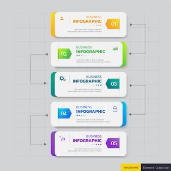 Sjabloon voor zakelijke infographics