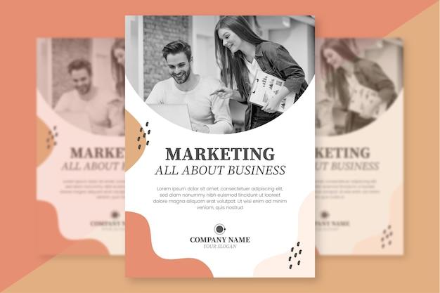 Sjabloon voor zakelijke marketing flyer