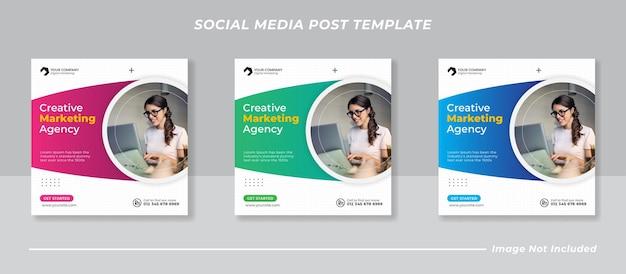 Sjabloon voor zakelijke marketing social media postbanner