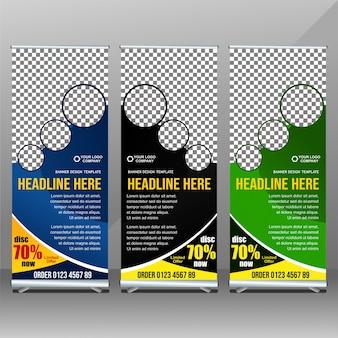 Sjabloon voor zakelijke rollup-banners