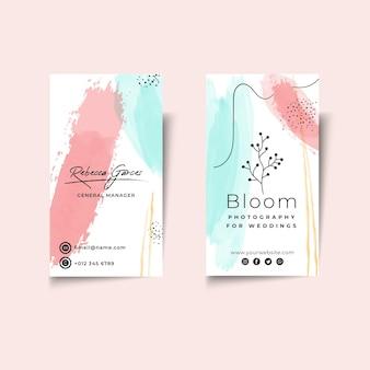 Sjabloon voor zakelijke vrouw visitekaartjes