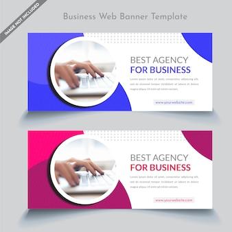 Sjabloon voor zakelijke webbanners