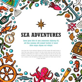 Sjabloon voor zee-avonturen
