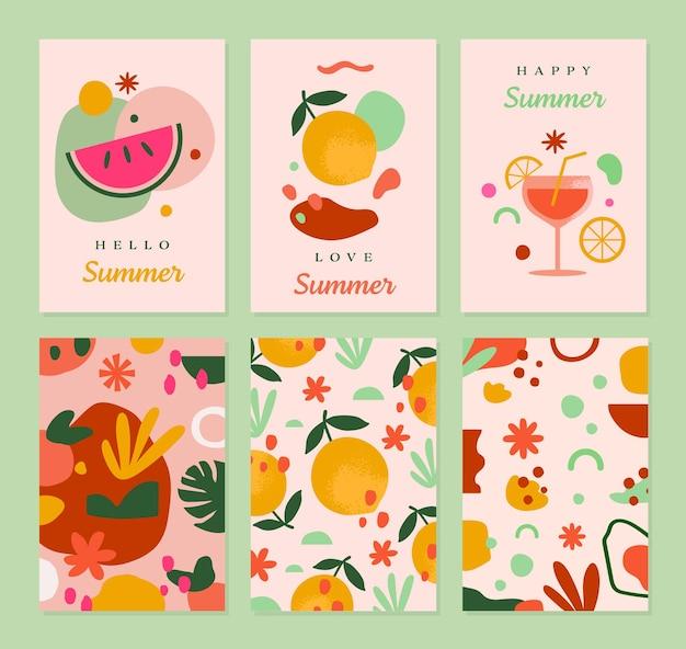 Sjabloon voor zomerwenskaarten in vector