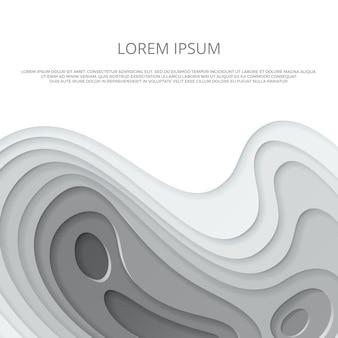 Sjabloon voor zwart-wit grijs papier gesneden flyer