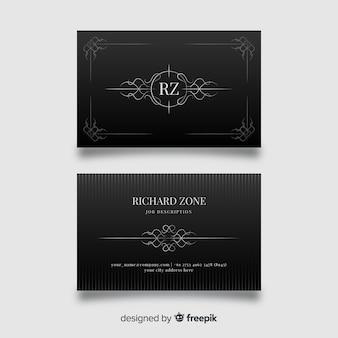 Sjabloon voor zwarte elegante visitekaartjes