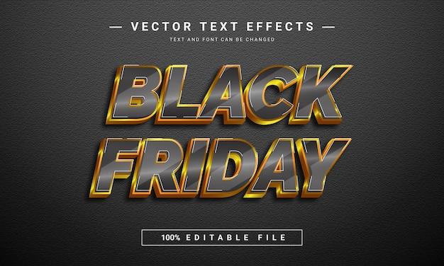 Sjabloon voor zwarte vrijdag-teksteffect