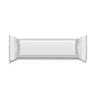 Sjabloon witte lege zoete stok voor snackproduct.