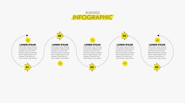 Sjabloon zakelijke infographic