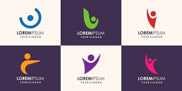 Sjabloonelementen voor menselijk logo