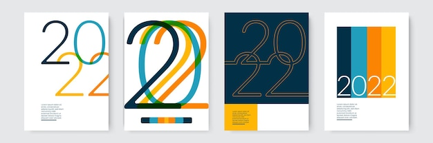 Sjabloonontwerp 2022 sterke typografie kleurrijk en gemakkelijk te onthouden ontwerp voor brandingpresentati...