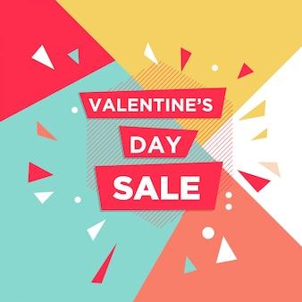 Sjabloonontwerp banner voor valentijnsdag aanbieding