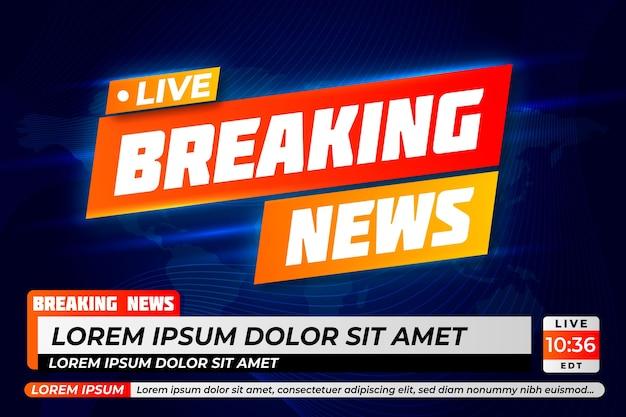 Sjabloonontwerp live breaking news