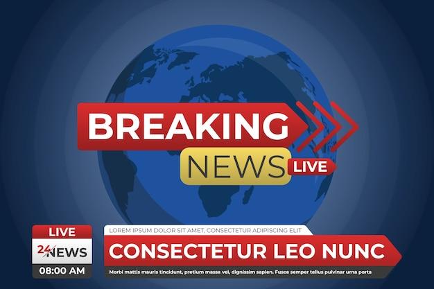 Sjabloonontwerp live nieuws
