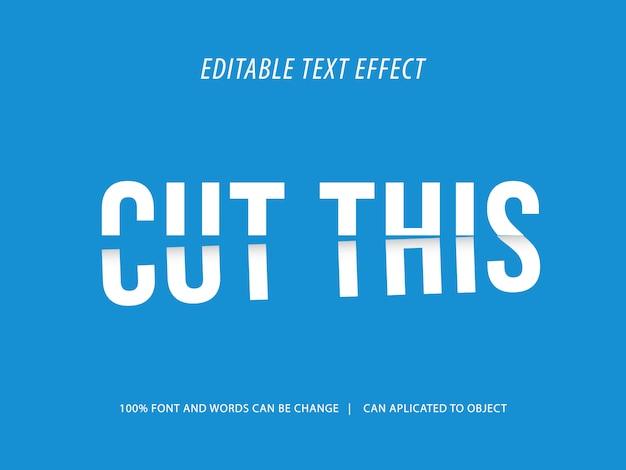 Sjabloonontwerp met abstracte 3d. bewerkbare afgeknotte mockup voor teksteffecten