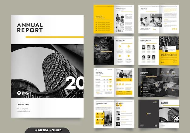Sjabloonontwerp met voorblad voor bedrijfsprofiel en brochures
