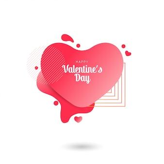 Sjabloonontwerp valentine verkoop hart banner