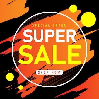Sjabloonontwerp van de banner van de verkoop, super verkoop speciale aanbieding.