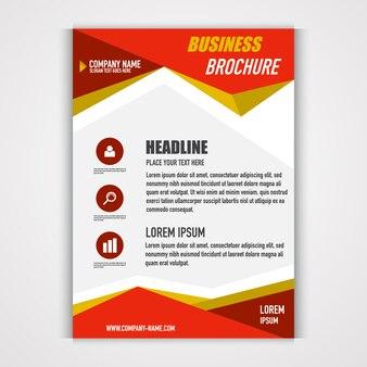 Sjabloonontwerp van zakelijke brochure